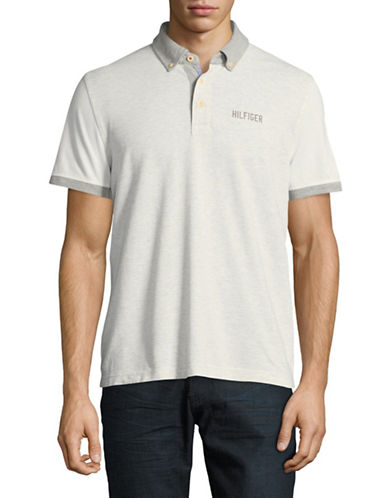 Tommy Hilfiger Custom-Fit Colourblock Polo-GREY-XX-Large