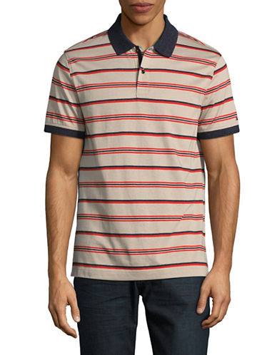Tommy Hilfiger Striped Short Sleeve Polo-OFF WHITE-XX-Large