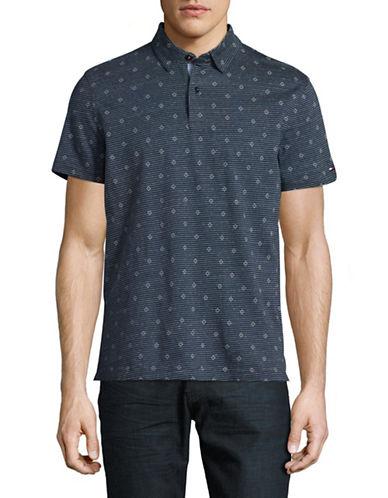 Tommy Hilfiger Sammy Print Polo Shirt-GREY-Small