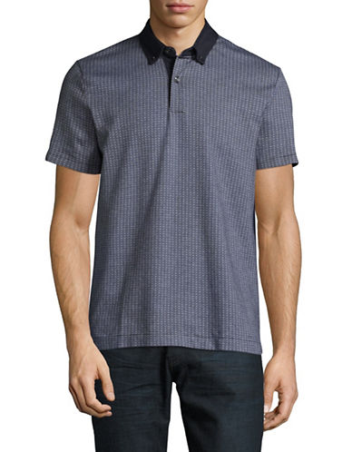 Tommy Hilfiger Kingsley Geo-Knit Polo-MIDNIGHT BLUE-X-Large