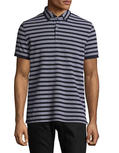 Tommy Hilfiger Custom-Fit Harry Striped Polo-BLUE-Medium