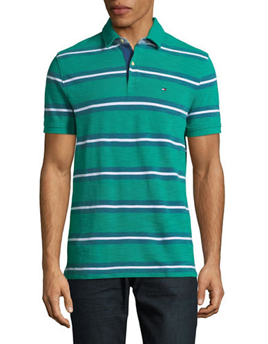 Tommy Hilfiger Marino Polo Shirt-GREEN-Small