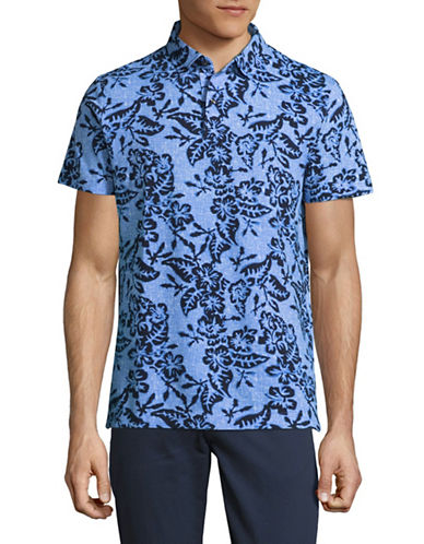Tommy Hilfiger Tropical Print Polo-BLUE-Large