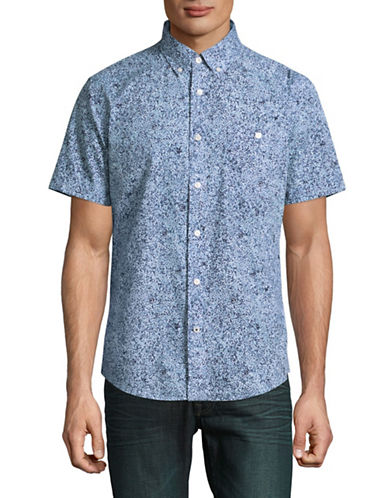 Tommy Hilfiger Carlisle Print Sport Shirt-BLUE-Small