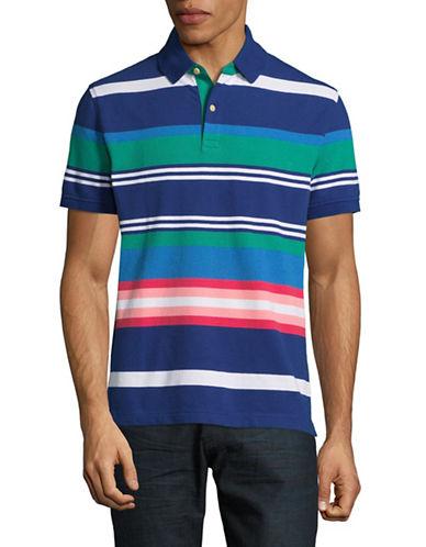 Tommy Hilfiger Cotton-Linen Stripe Polo-BLUE-XX-Large