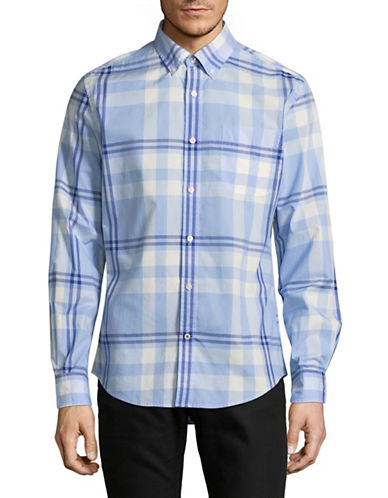 Tommy Hilfiger Plaid Shirt-BLUE-X-Large