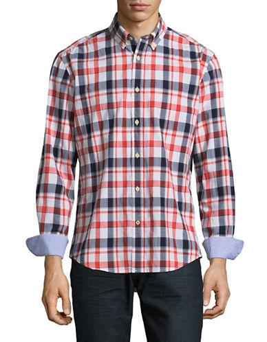 Tommy Hilfiger Plaid Shirt-GREY-Medium