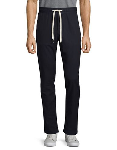 Tommy Hilfiger Slim-Fit Drawstring Pants-BLACK-Large 89308906_BLACK_Large