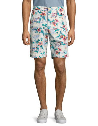 Tommy Hilfiger Printed Shorts-WHITE-40