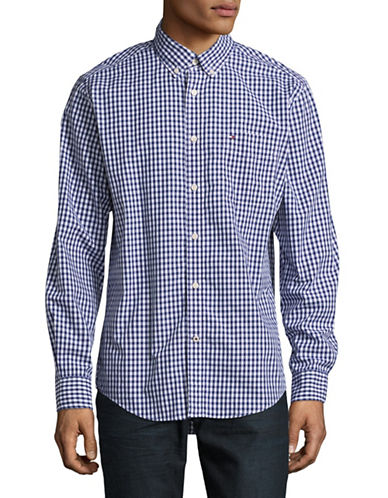 Tommy Hilfiger Classic Fit Check Sport Shirt-BLUE-Small