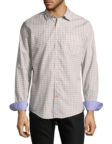 Tommy Hilfiger Quinn Plaid Sport Shirt-GREY-Small