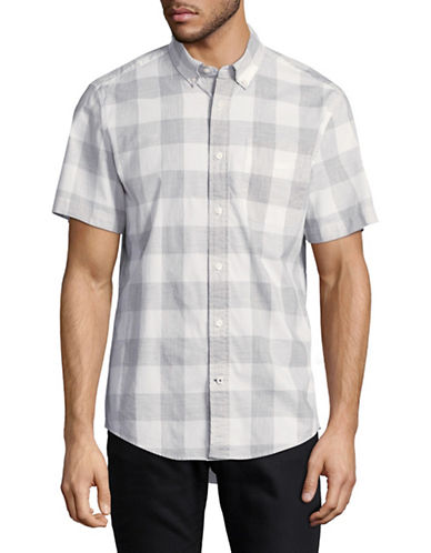 Tommy Hilfiger Plaid Sport Shirt-WHITE-Small