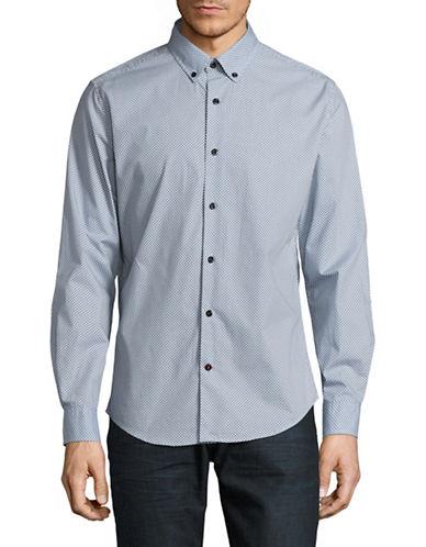 Tommy Hilfiger Arrow Print Sport Shirt-GREY-XX-Large
