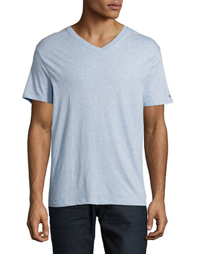 Tommy Hilfiger V-Neck T-Shirt-BLUE-X-Large
