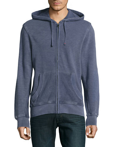 Tommy Hilfiger Washed Zip Hoodie with Ring-Spun Trim-NAVY BLAZE-XX-Large 89181987_NAVY BLAZE_XX-Large