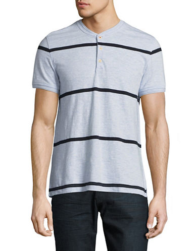 Tommy Hilfiger Striped Henley T-Shirt-BLUE-XX-Large