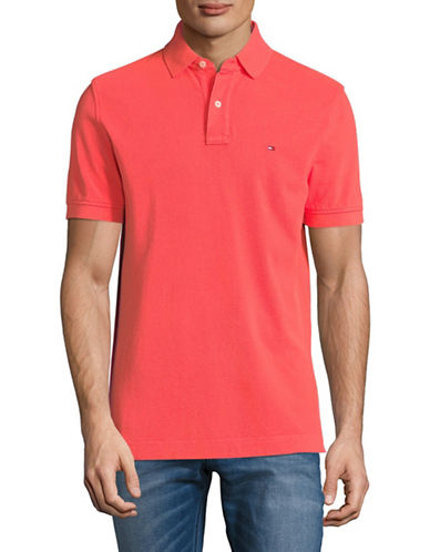 Tommy Hilfiger Cotton Pique Polo-PINK-Medium