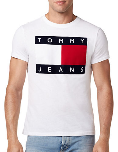 Tommy Jeans 90s Cotton Flock Tee-WHITE-Large 89315978_WHITE_Large