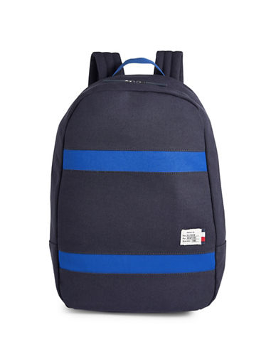 Tommy Hilfiger Canvas Dome Backpack-BLUE-One Size