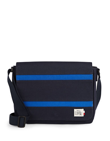 Tommy Hilfiger Canvas Messenger Bag-BLUE-One Size