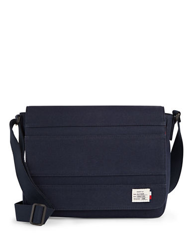 Tommy Hilfiger Canvas Messenger Bag-NAVY-One Size