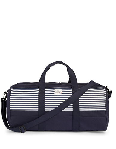 Tommy Hilfiger Striped Canvas Weekender Bag-NAVY-One Size
