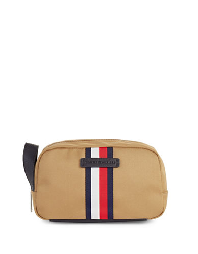 Tommy Hilfiger Twill Dopp Kit-TAN-One Size