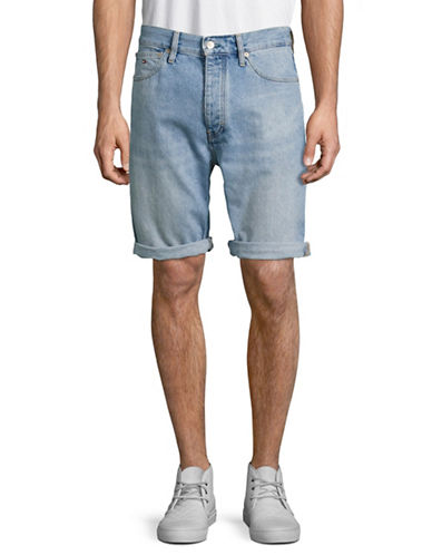 Tommy Jeans 90s Carpenter Denim Shorts-GREY-33
