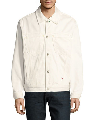 Tommy Jeans Button-Front Denim Jacket-WHITE-Medium 89317181_WHITE_Medium