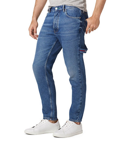Tommy Jeans 90s Carpenter Straight Slim Jeans-BLUE-36