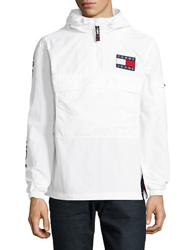 Tommy Jeans 90s Packable Popover Jacket-WHITE-Large