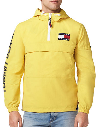 Tommy Jeans 90s Packable Popover Jacket-YELLOW-X-Small