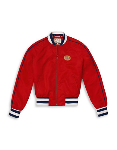 Tommy Hilfiger Tommy x Gigi Cropped Bomber Jacket-RED-X-Small 89089457_RED_X-Small