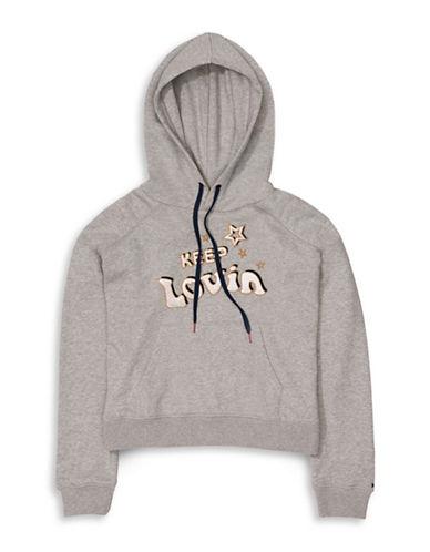 Tommy Hilfiger Tommy x Gigi Cropped Sweatshirt-GREY-X-Large 89089490_GREY_X-Large