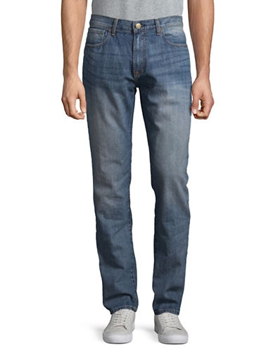 Tommy Hilfiger Straight-Fit Cotton Jeans-BLUE-34X30