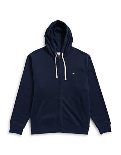 Tommy Hilfiger Plains Hoodie-NAVY-2X Tall