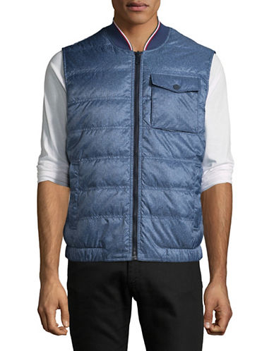 Tommy Hilfiger Reversible Down Vest-NAVY-Small