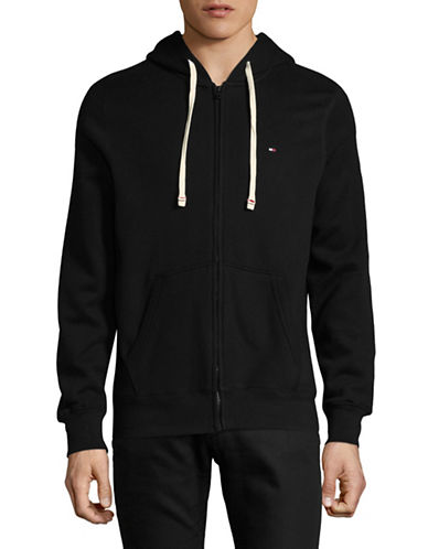 Tommy Hilfiger Plains Hoodie-BLACK-Large