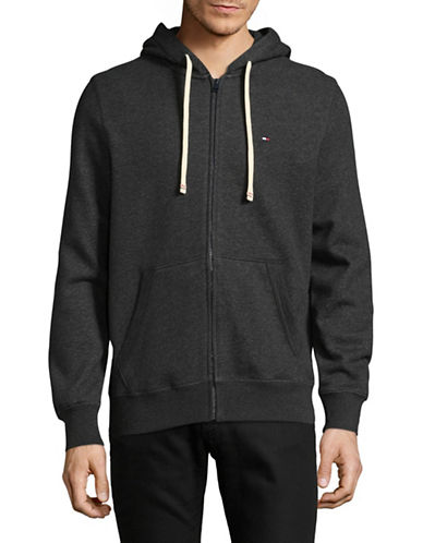 Tommy Hilfiger Plains Hoodie-CHARCOAL-XX-Large