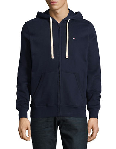 Tommy Hilfiger Plains Hoodie-NAVY-Medium
