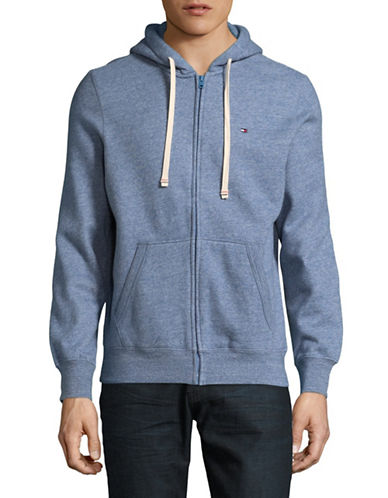 Tommy Hilfiger Plains Hoodie-LIGHT BLUE-Medium