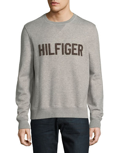 Tommy Hilfiger Logo Sweatshirt-GREY-Small