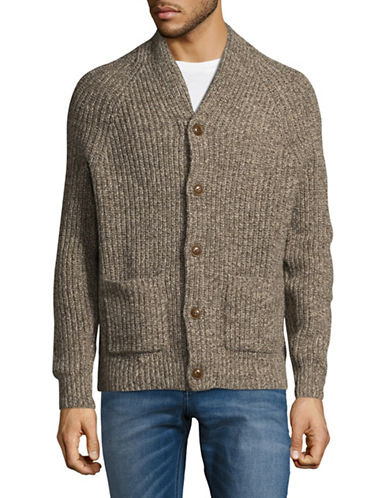 Tommy Hilfiger Silas Wool-Blend Cardigan-BEIGE-Small
