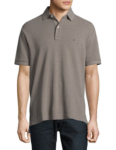 Tommy Hilfiger Classic-Fit Polo Shirt-BROWN-XX-Large