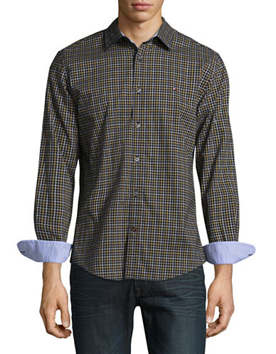 Tommy Hilfiger Checked Sport Shirt-GREY-X-Large