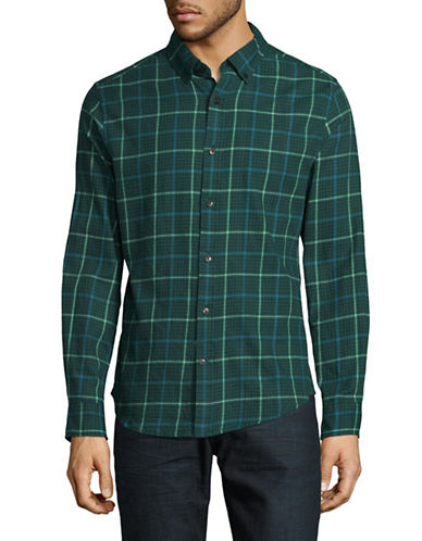 Tommy Hilfiger Hunter Check Sport Shirt-GREEN-XX-Large