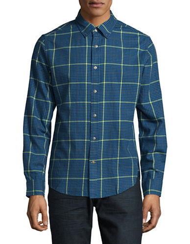 Tommy Hilfiger Hunter Check Sport Shirt-BLUE-Medium