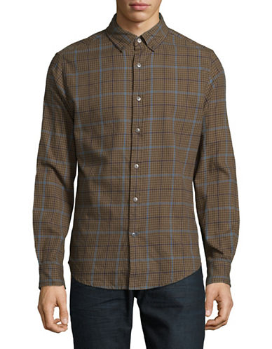 Tommy Hilfiger Hunter Check Sport Shirt-RED-Small