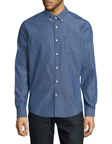 Tommy Hilfiger Dean Chambray Sport Shirt-LIGHT BLUE-Small