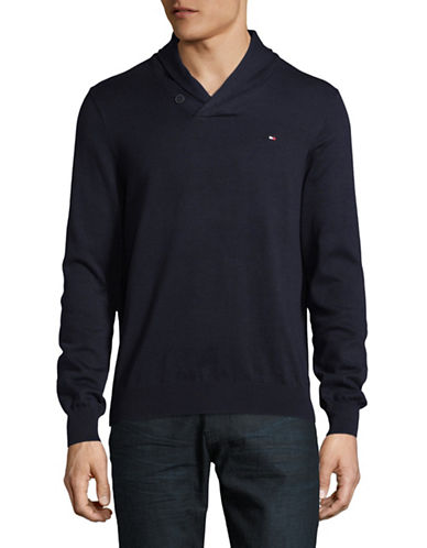 Tommy Hilfiger Signature Cotton Sweater-CHARCOAL-Medium